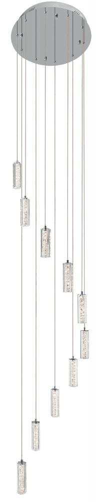 Elan 83404 - Cool White Led 10 Light Spiral Pendant