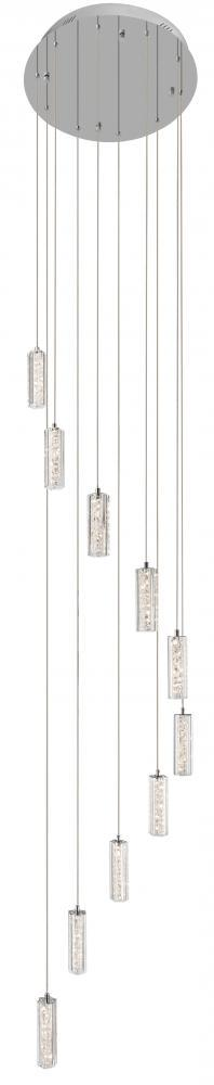 Elan 83424 - Warm White Led 10 Light Spiral Pendant