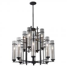 Feiss F2629/8+4AF/BS - 12- Light Multi-Tier Chandelier