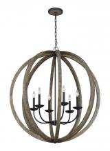 Feiss F3186/6WOW/AF - 6 - Light Pendant Chandelier