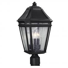 Generation Lighting - Feiss OL11308BK - 3 - Light Outdoor Post