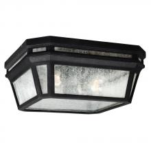 Generation Lighting - Feiss OL11313BK - 2 - Light Outdoor Flush