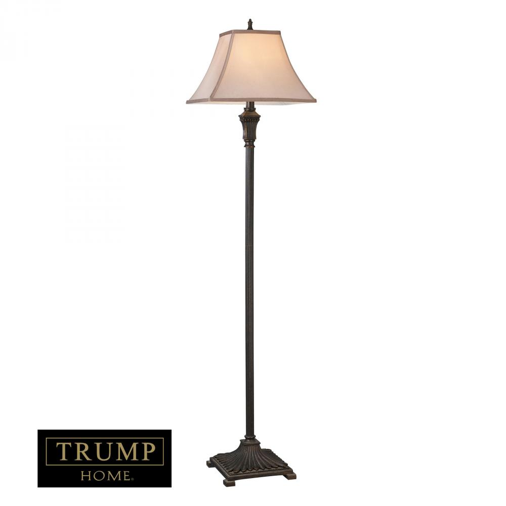 Trump Home Woodbury Floor Lamp in Brown