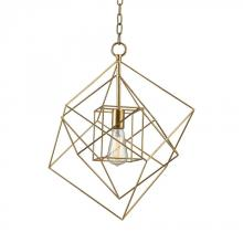 Dimond 1141-013 - Neil 1 Light Box Pendant In Gold Leaf - Small