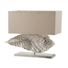 Dimond 468-030 - Wide Leaf Table Lamp in Nickel With Natural Linen Shade