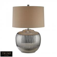 Dimond D2640 - Trump Home Oversized Ribbed Ceramic Table Lamp in Silver