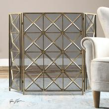 Uttermost 19984 - Uttermost Akiva Champagne Fireplace Screen