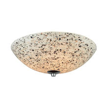 ELK Lighting 10740/3 - Spatter 3-Light Flush Mount in Polished Chrome with Spatter Mosaic Glass