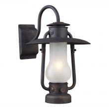 ELK Lighting 65004-1 - Stagecoach 1 Light Sconce In Matte Black And Aci
